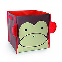 Skip Hop Коробка для хранения ящик для игрушек обезьянка Zoo Large Storage Bin Marshall Monkey