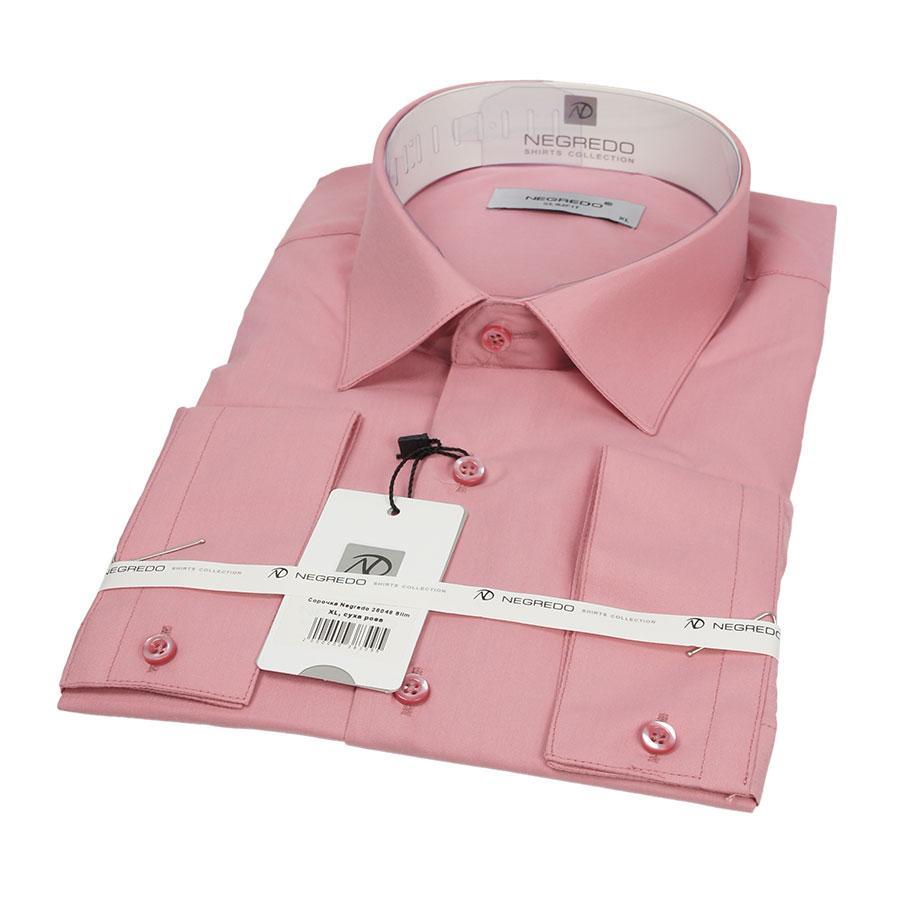 Приталенная мужская рубашка Negredo 26048 Slim
