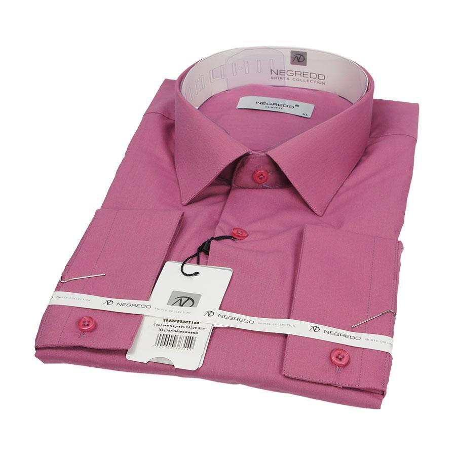 Приталенная мужская рубашка Negredo 26226 Slim