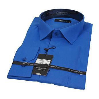 Однотонная мужская рубашка Negredo 30272 Сlassic