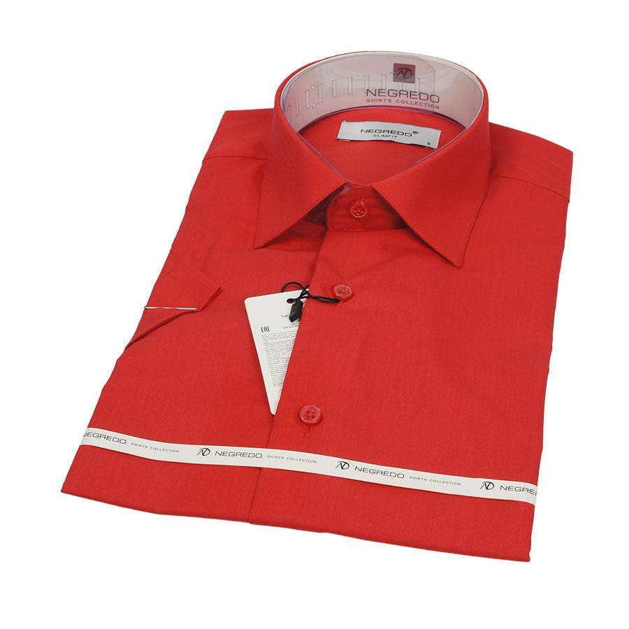 Стильная мужская рубашка Negredo 26148 Slim красная