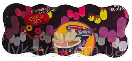 Шоколадно-клубничная паста с хрустящими палочками Choco Dips Prestige, 15 гр x 10 шт, фото 2
