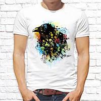Чоловіча футболка з принтом Ворон Push IT