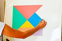 Танграм кольоровий на магнітах 35 см. НУШ, фото 1