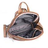 Коричневый женский городской рюкзак М134-32, фото 4