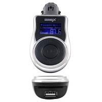 FM-трансмиттер Grand-X CUFM77GRX, AUX, USB 0,5A, SD card, 3,5mm mini-jack