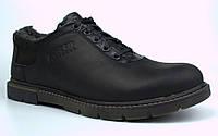 Зимние туфли больших размеров на меху черные мужские кожаные Rosso Avangard Ragn Asfa Black BS, фото 1
