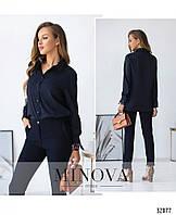 Классическая молодёжная рубашка чёрная, белая и синяя с 42 по 46 размер