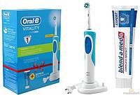 Электрическая зубная щетка Braun Oral-B Vitality, D12.513+зубная паста