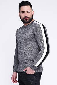 Модный мужской свитер с лампасом