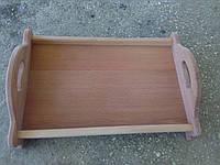 Поднос деревянный с ручками, поднос из дерева 27х44см