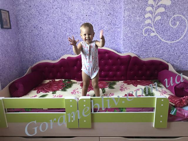 """На фото: детская односпальная кровать """"Л-6"""" Lion"""