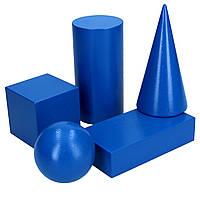 Набір об'ємних геометричних фігур 5шт. НУШ, фото 1