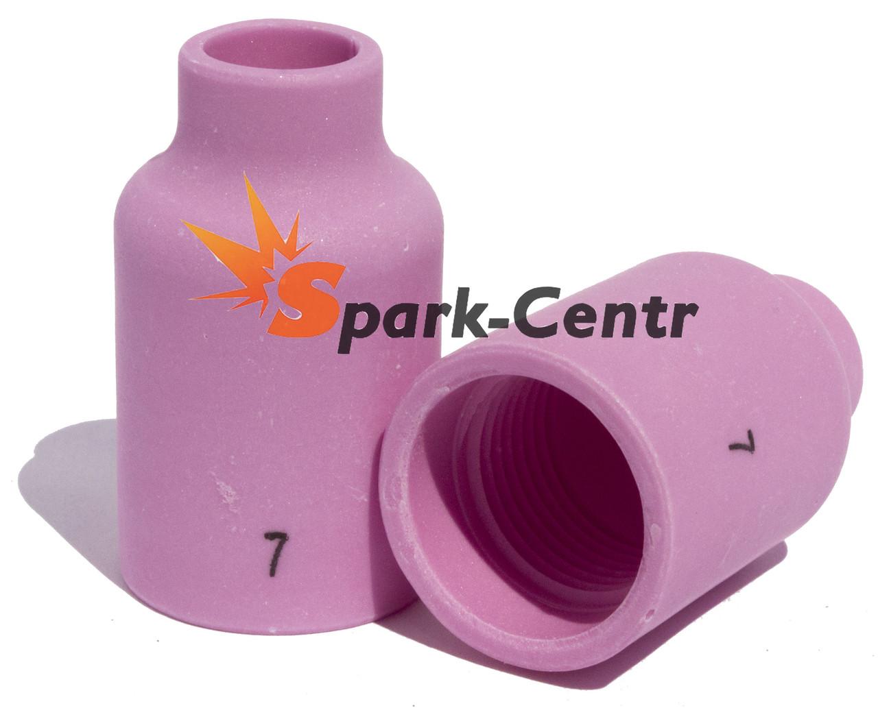 Сопло газовое №7 стандартное для газовой линзы 40 мм, Ø11 мм серия 54N15 для горелки WP-17/18/26