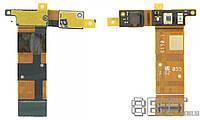 Шлейф для Sony C5302 / C5303 / C5306 Xperia SP M35h с фронтальной камерой, c датчиком приближения и освещенности
