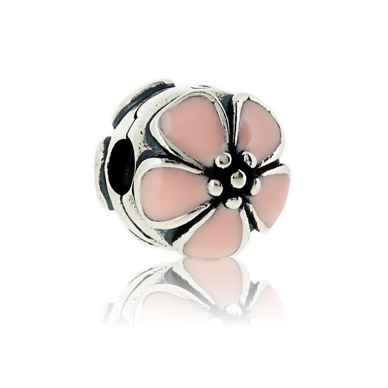 Клипса «Сакура» из серебра 925 пробы в стиле Pandora