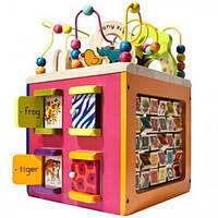 Battat Развивающая деревянная игрушка - Зоо-куб BX1004X Buy Zany Zoo Wooden Activity Cube