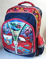 Школьный рюкзак для мальчиков объёмный тачки Piston красный