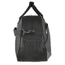 Дорожная сумка BagHouse (нейлон) большая 64х40х25 цвет чёрный  к 6068ч сер, фото 3