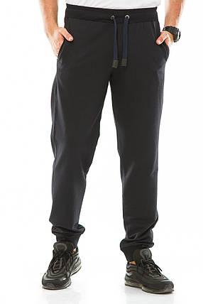 Мужские спортивные штаны 718 темно-синие, фото 2