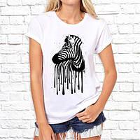Жіноча футболка з принтом Зебра 2 Push IT
