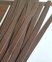 Ременная полоса (кожаная заготовка) ,темно-коричневый цвет  с покрытием, толщина 4мм