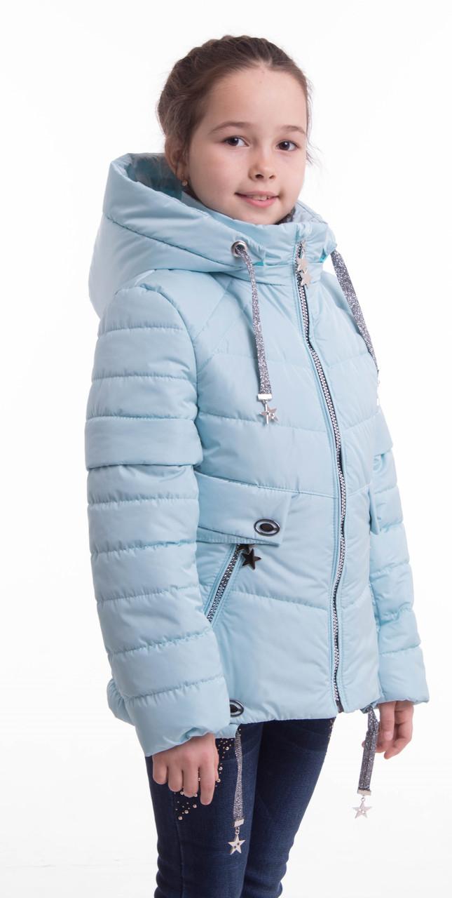 Осенние куртки для девочек  от производителя  34-42 голубой