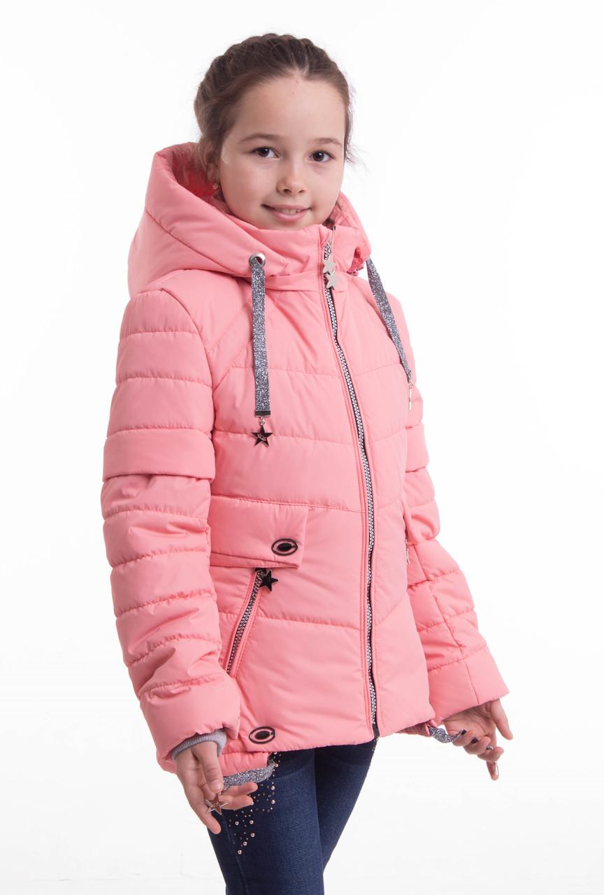 Куртка демисезонная на девочку от производителя  34-42 персиковый