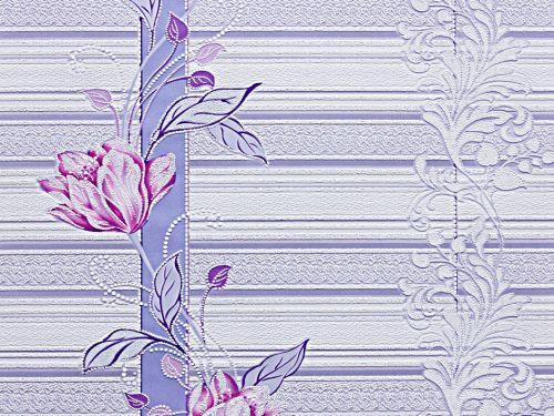 Обои, цветы, крупный рисунок, акрил на бумажной основе, B76,4 Марго 7019-03, 0,53*10м