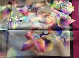10080-15, павлопосадский шейный платок (крепдешин) шелковый с подрубкой, фото 4