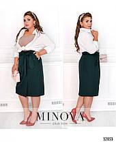 Элегантная женская юбка на запах в деловом стиле батал с 50 по 56 размер, фото 3