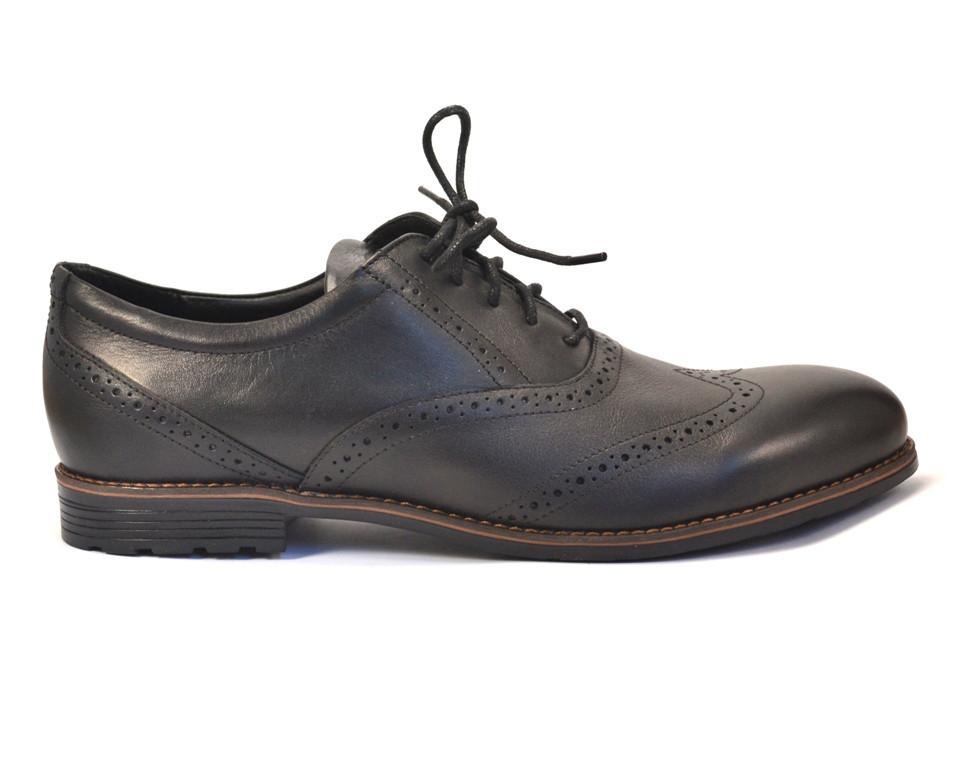 Rosso Avangard BS Felicete Uomo Black Pelle туфли кожаные броги большая обувь мужская черные 50 размер