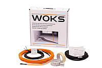 Теплый пол Woks 10 тонкий двужильный кабель в комплекте 350 Вт