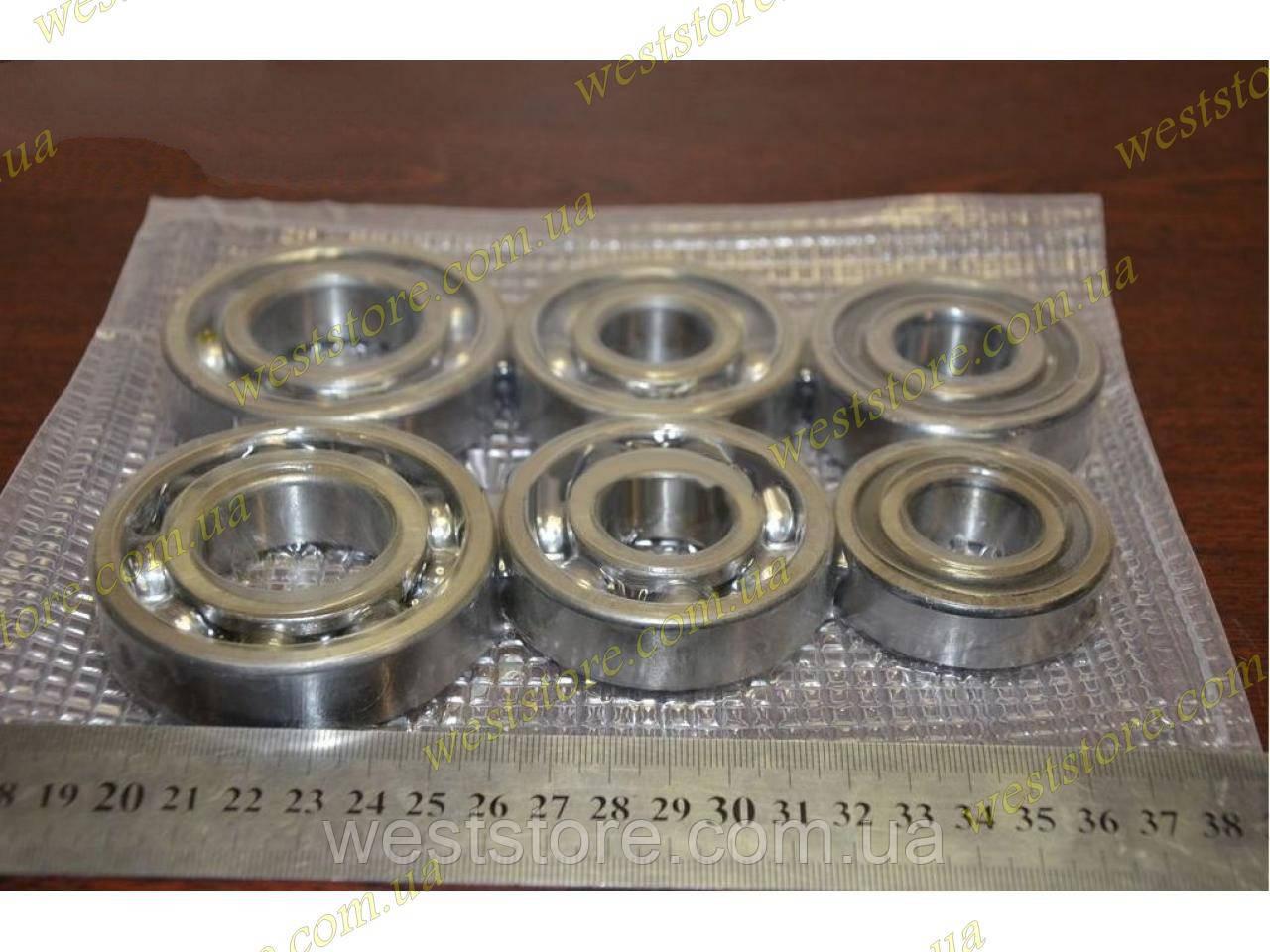 Комплект подшипников КПП Заз 1102 1103 таврия славута старого образца (29305 без втулки) (6 штук)
