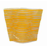 Ваза складная пластиковая Желтые полоски18х22 см