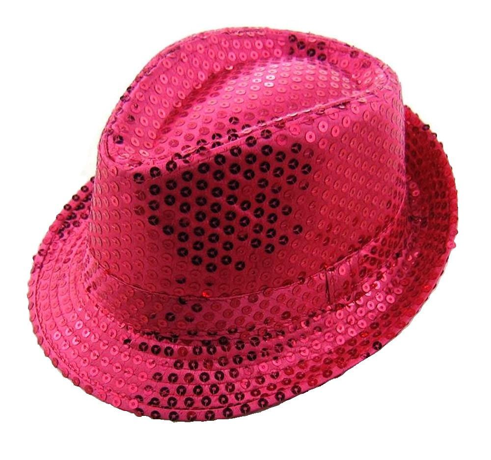 Шляпа Диско розовая