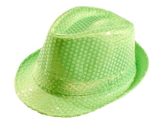Шляпа Диско фисташковая