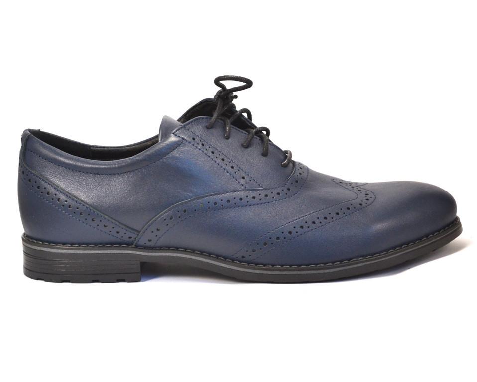 Rosso Avangard BS Felicete Uomo Blu синие туфли кожаные броги обувь большая мужская 50 размер