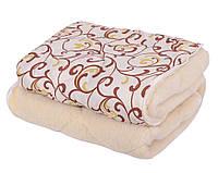 Одеяло ОТКРЫТОЕ овечья шерсть (Поликоттон) Полуторное T-51269
