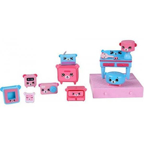 Shopkins Happy Places Счастливые места мечтающие мишки Decorator Pack Dreamy Bear Moose Toys 09177