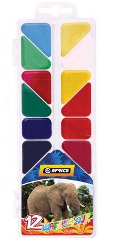 """Фарби акварельні """"Africa"""" 12 кольорів (E60112)"""