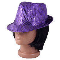Шляпа ДИСКО с паетками
