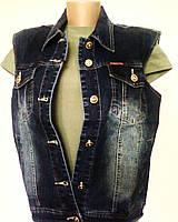 ЖИЛЕТКА женская джинсовая, р.50-58