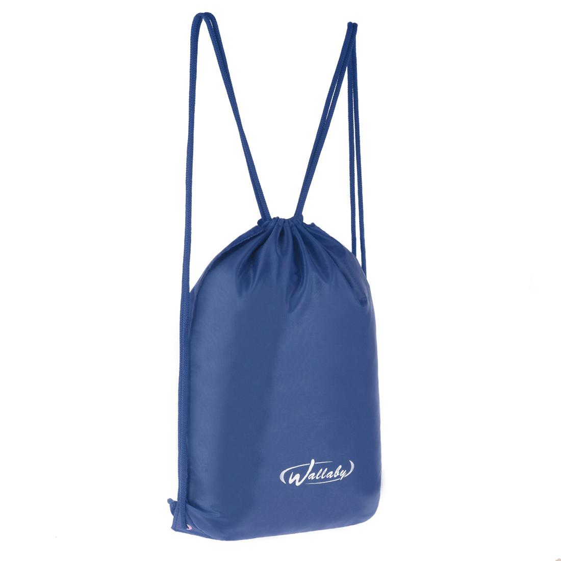 Рюкзак-котомка Wallaby для сменки и обуви 35х43х1 синий, материал нейлон 420 Д  в 28252син