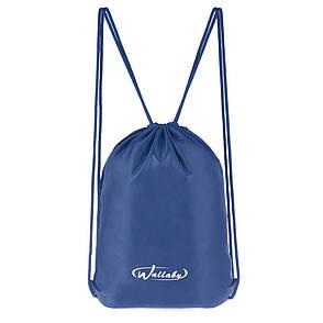 Рюкзак-котомка Wallaby для сменки и обуви 35х43х1 синий, материал нейлон 420 Д  в 28252син, фото 2
