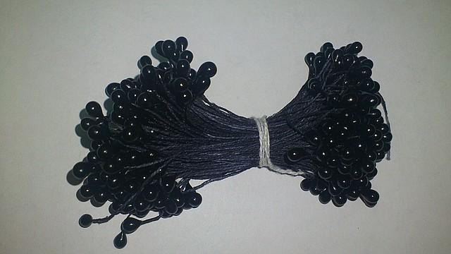 Тычинки черные перламутровые круглые около 20шт..(код 01243)
