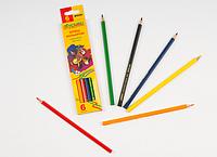 Набор цветных карандашей 6 цветов.Карандаши детские.Цветные карандаши в школу.