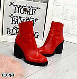 Эффектные кожаные демисезонные ботинки на каблуке, фото 8