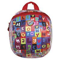 Детский рюкзак Буквы красный