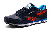 Кроссовки Reebok Classic Jogger мужские темно-синие/замшевые вставки/ красный шнурок, фото 1